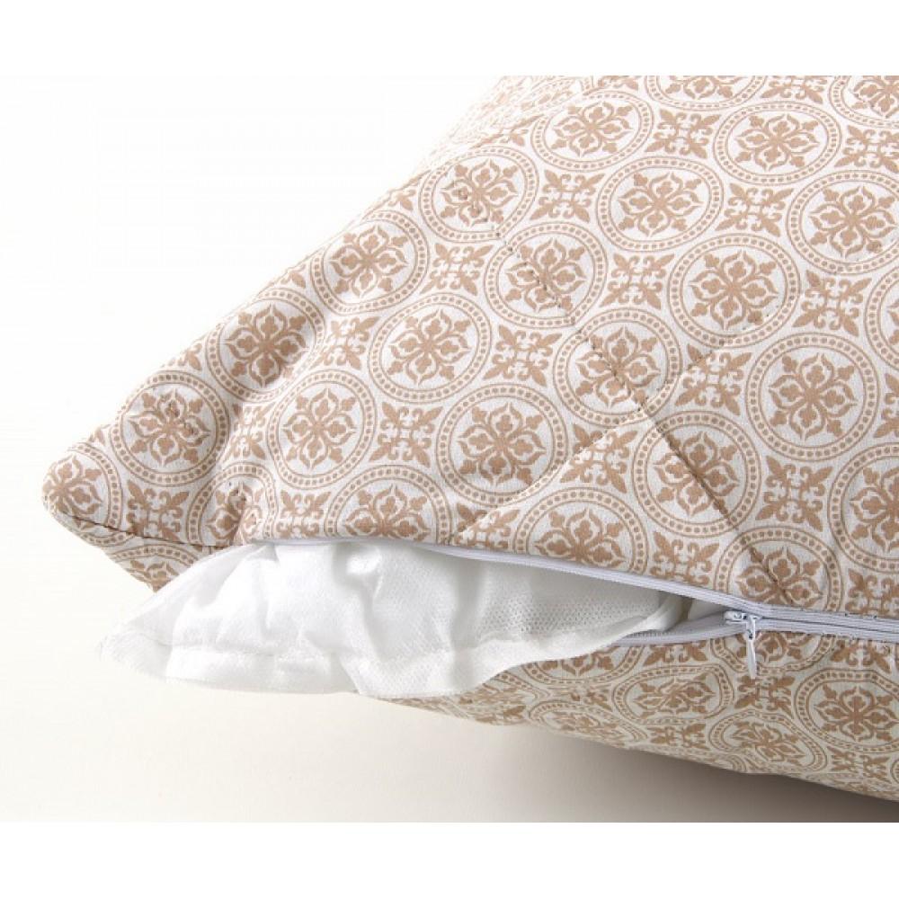 Подушка стеганная. Лён/ Перкаль