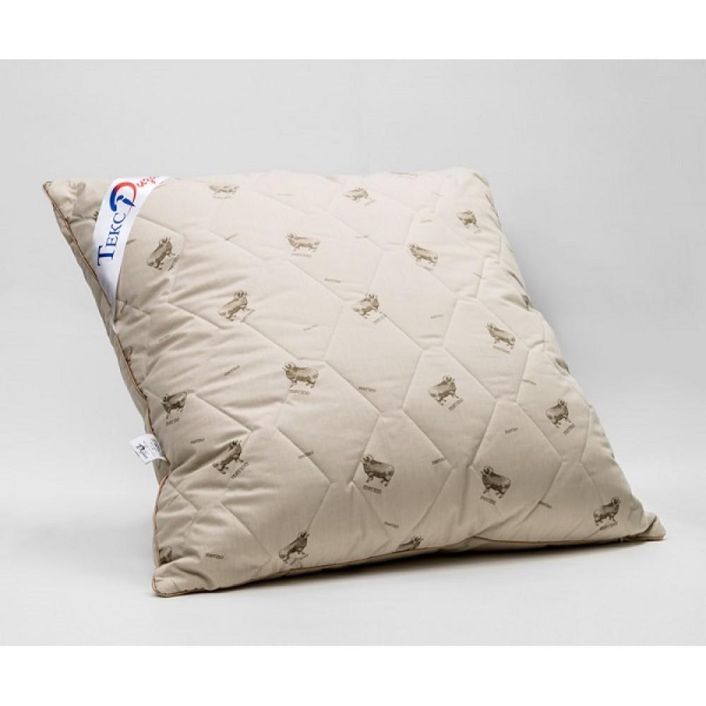 Подушка стеганная. Овечья шерсть/ Тик