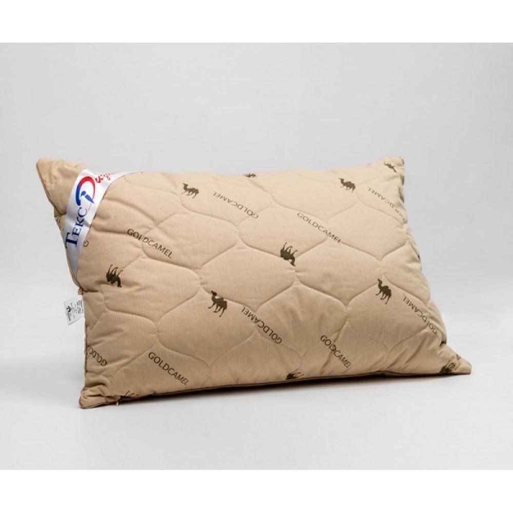 Подушка стеганная. Верблюжья  шерсть/Тик