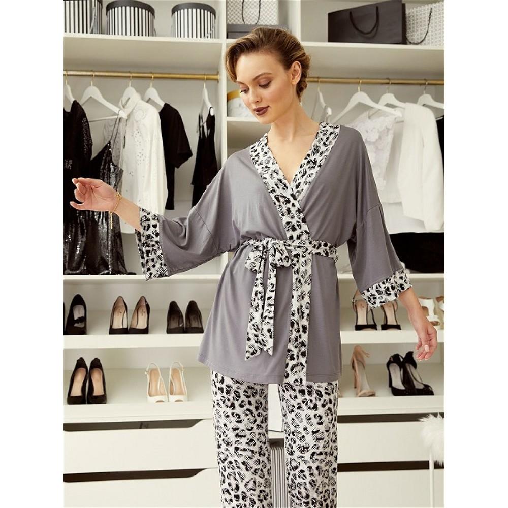 Mia Cara / Домашний комплект (жакет, брюки) Animal