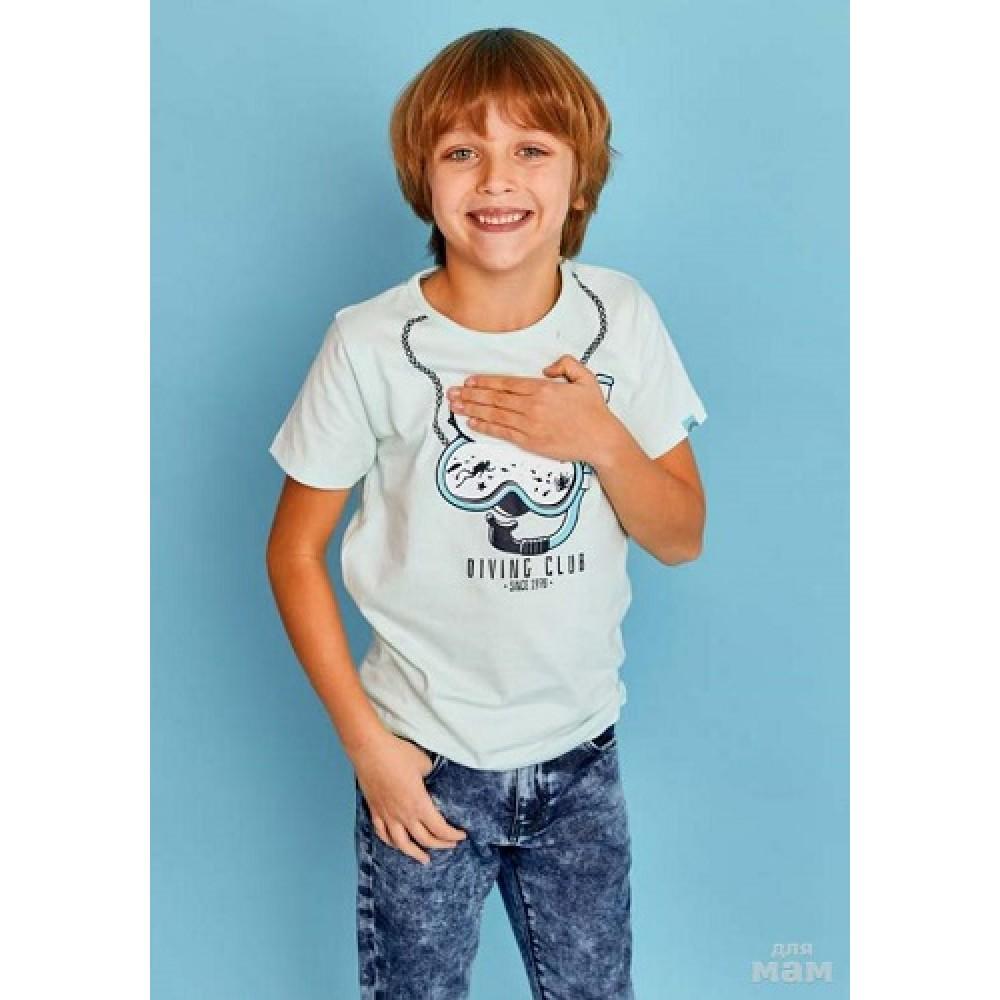 Футболка для мальчика JUNO E38512-35COZ Surfing голубой
