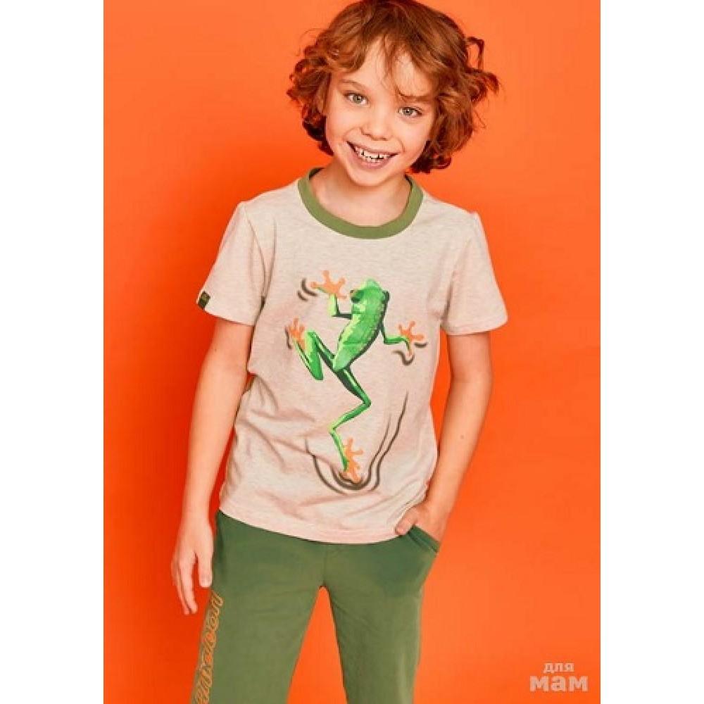 Футболка Juno SS21BJ627 Chameleon бежевый меланж
