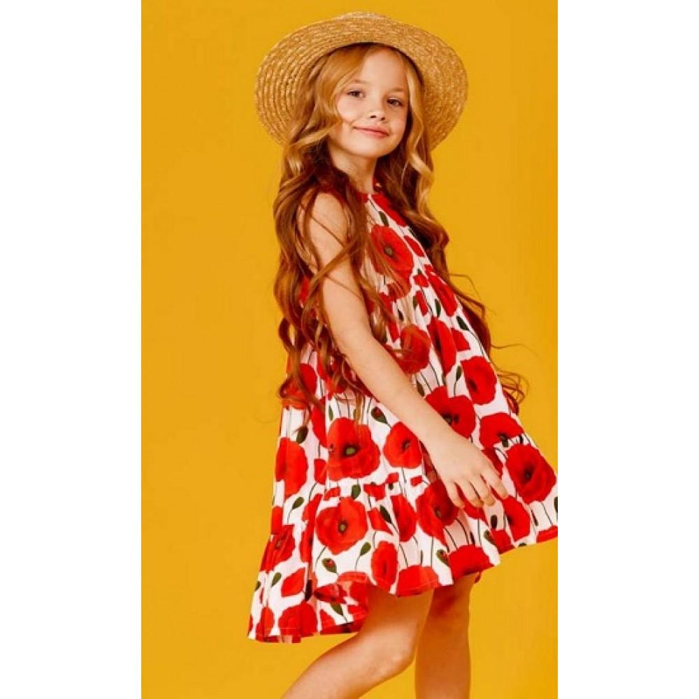 Платье д/дев Juno SS21GW511 Happy Summer белый/цветы