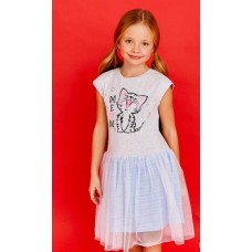 Платье Juno SS21GJ517 Happy Summer светло-серый меланж/петелька
