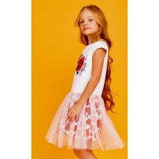 Платье д/дев Juno SS21GJ521 Happy Summer белый/маки