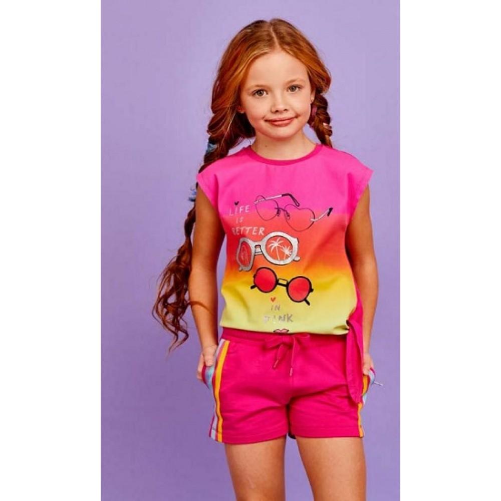 Футболка Juno SS21GJ526 Sweet Rainbow ярко-розовый