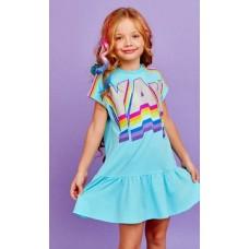 Туника (платье) Juno  SS21GJ529 Sweet Rainbow бирюзовый