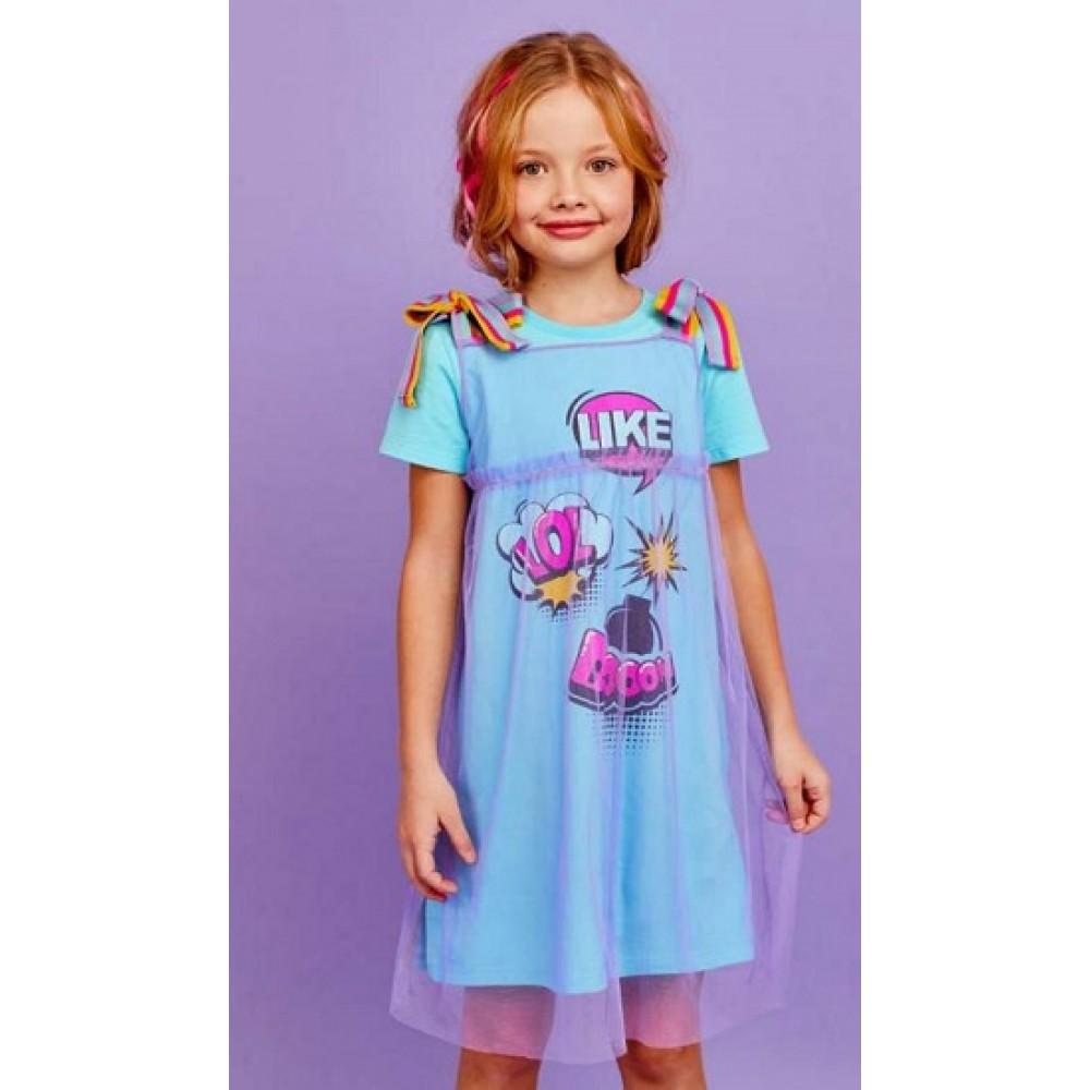 Платье Juno SS21GJ531 Sweet Rainbow бирюзовый