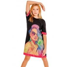 Платье Crazy Getup SS21GJ819 Galaxy spill черный