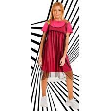 Платье Crazy Getup SS21GJ822 Galaxy spill розовый/черный