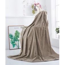 """Плед-покрывало жаккардовое """"Пирамидка"""" 003 светло-коричневый"""