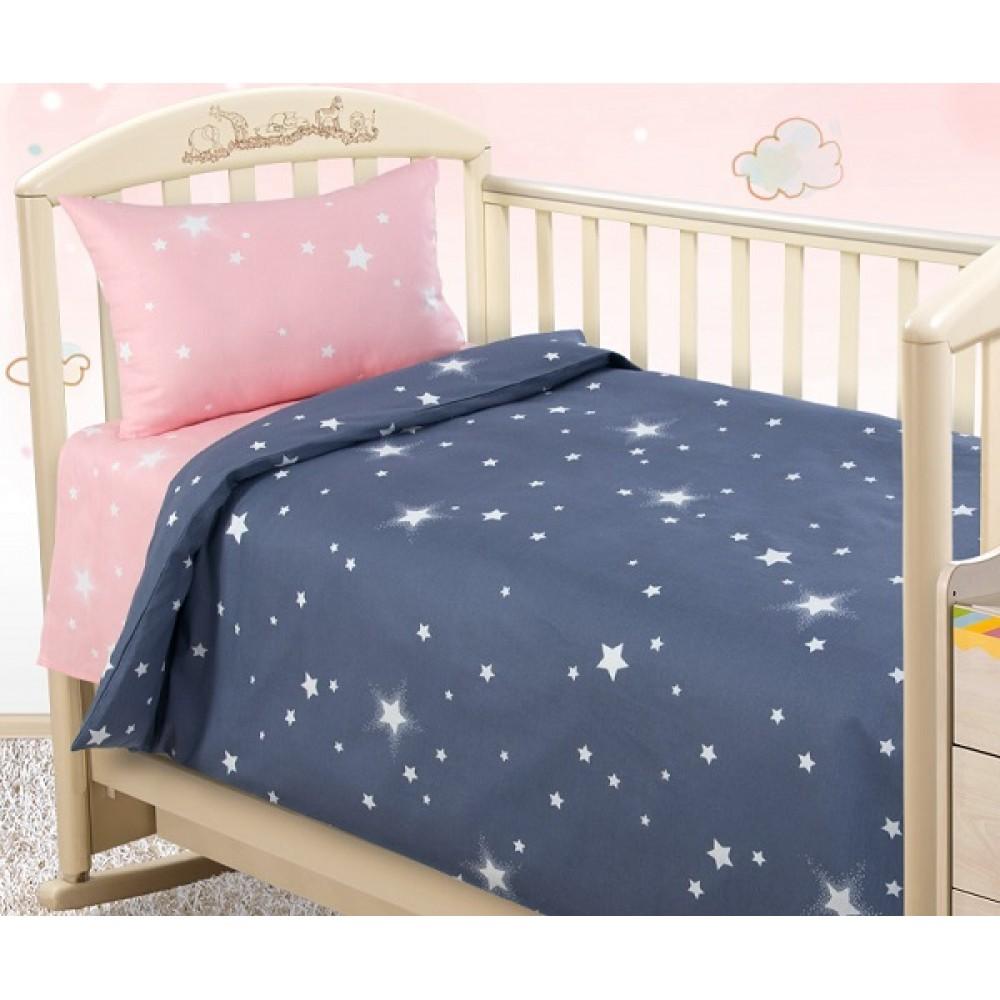 Постельное белье  «Звездное небо 1», бязь  (ясельный)