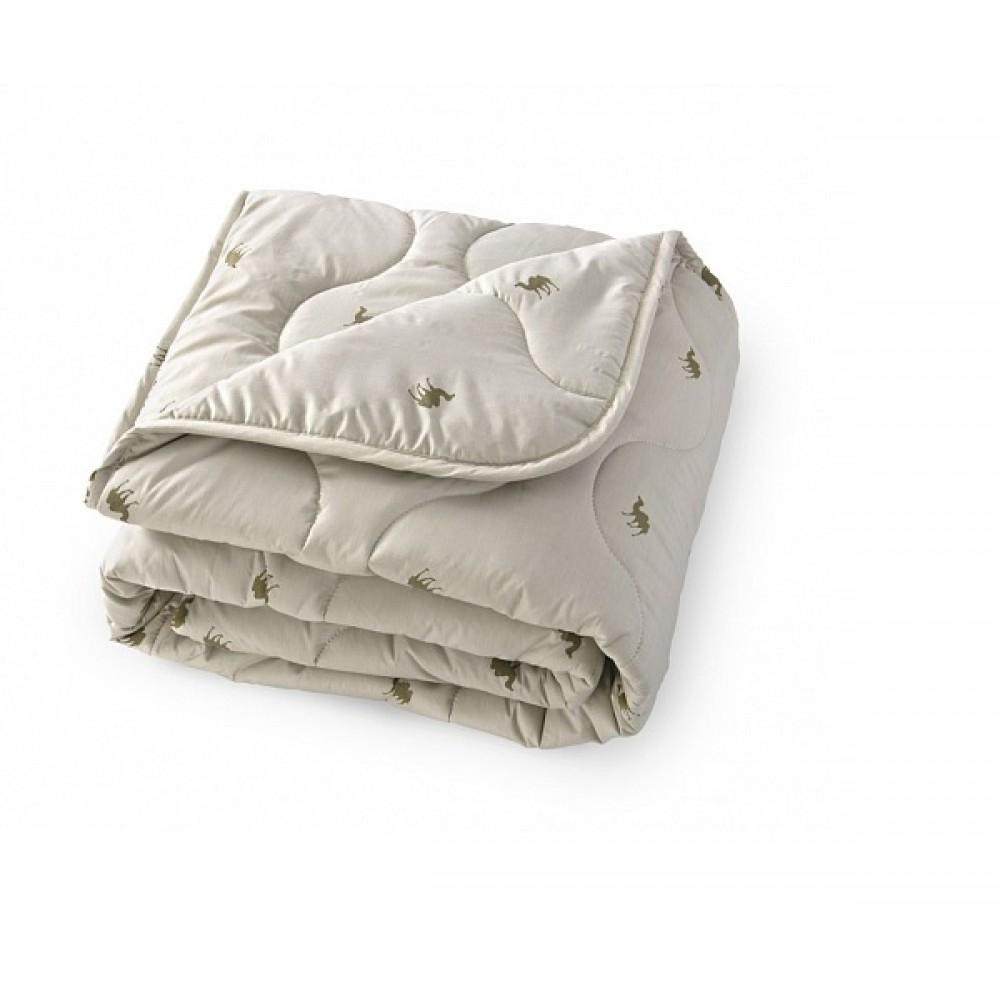 """Стеганное одеяло""""тик"""" из верблюжьей шерсти"""