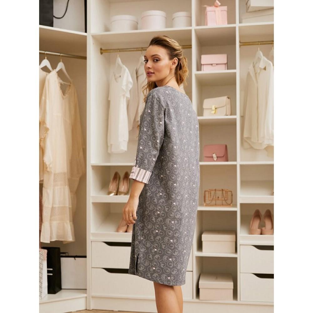 Платье жен Mia Cara AW20WJ346 Pink Puff серый/рисунок
