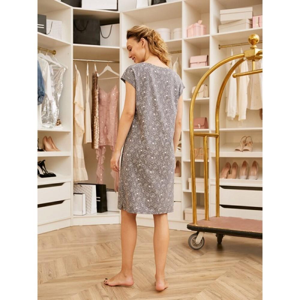 Сорочка жен Mia Cara AW20WJ347 Pink Puff серый/рисунок