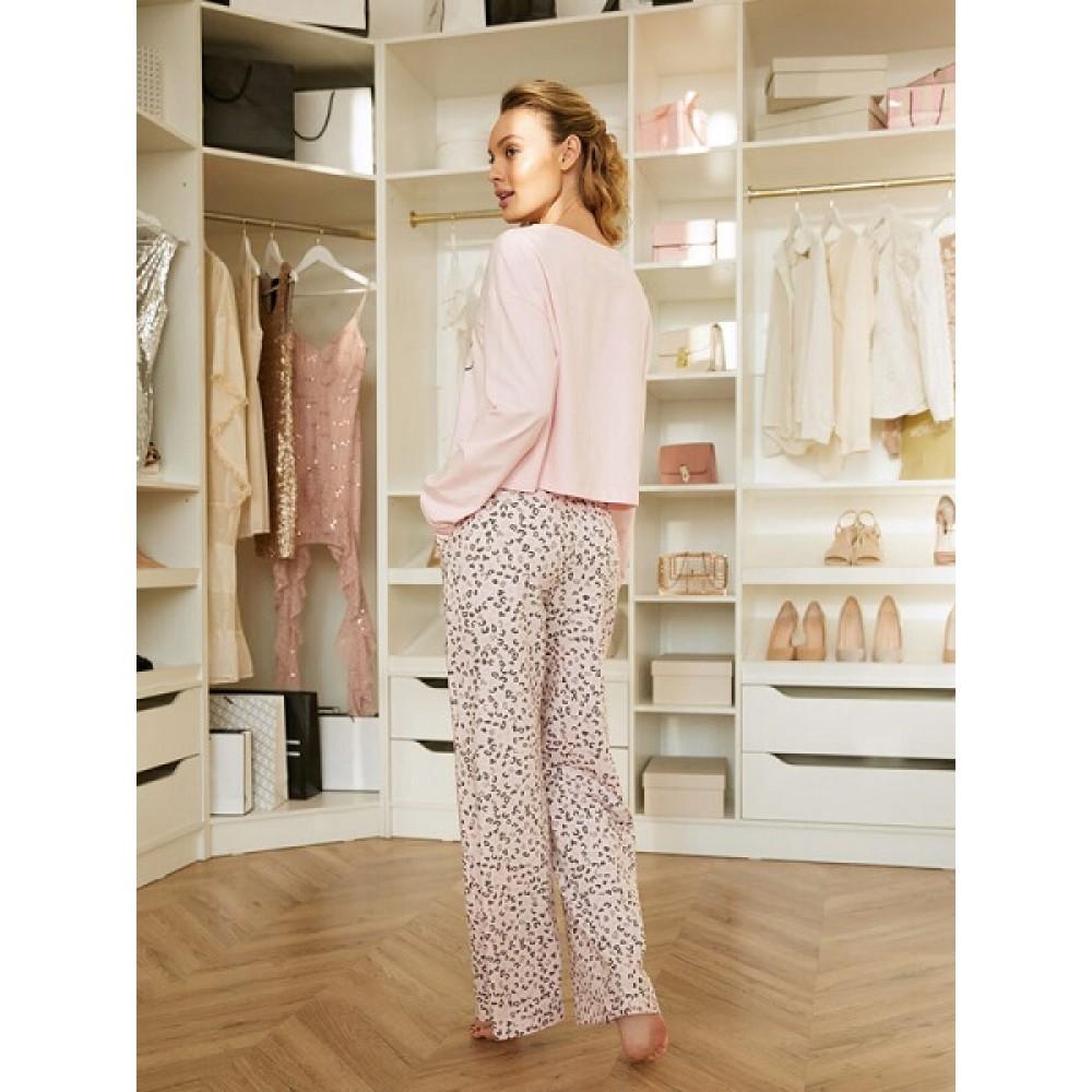Комплект фуфайка (футболка) д/рук, брюки жен Mia Cara AW20WJ351 Pink Puff розовый