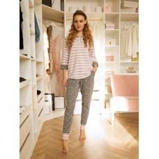Комплект фуфайка (футболка), брюки жен Mia Cara AW20WJ352 Pink Puff розовый/серый