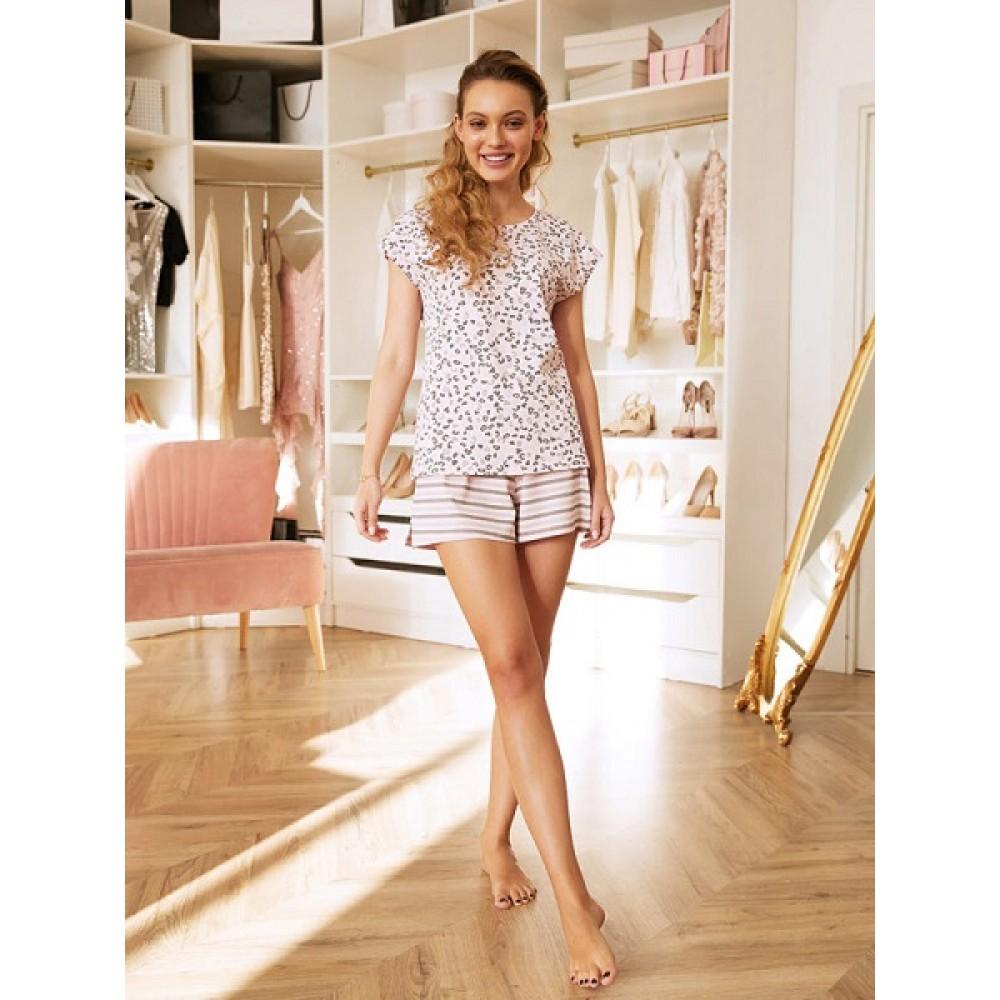 Комплект фуфайка (футболка), шорты жен Mia Cara AW20WJ371 Pink Puff розовый