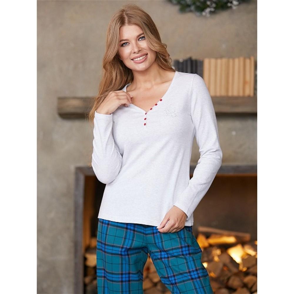 Фуфайка (футболка) д/рук жен Mia Cara AW20WJ391 Snow Tyrol серый меланж