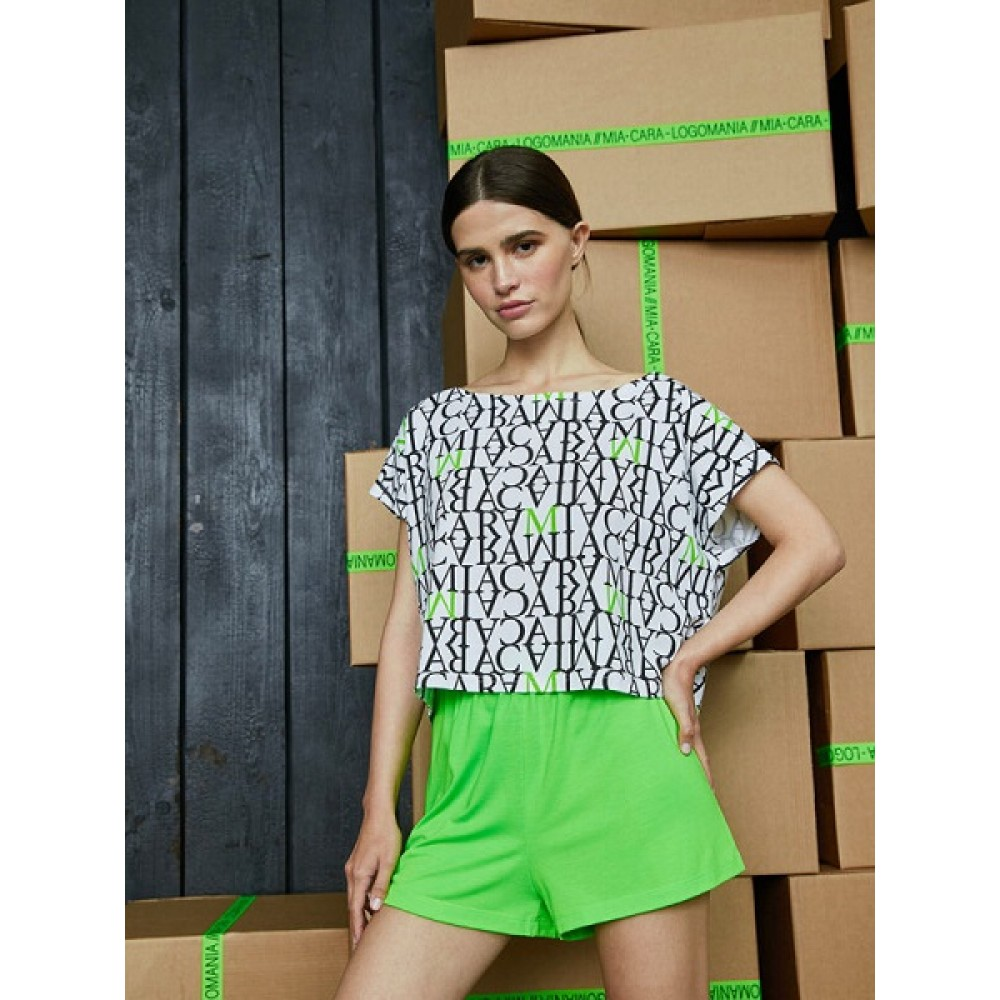 Комплект футболка (фуфайка), шорты жен Mia Cara AW20WJ330 Logomania