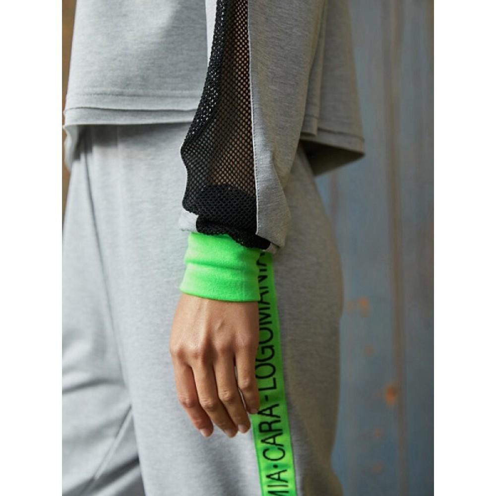 Комплект джемпер, брюки жен Mia Cara AW20WJ327 Logomania серый меланж