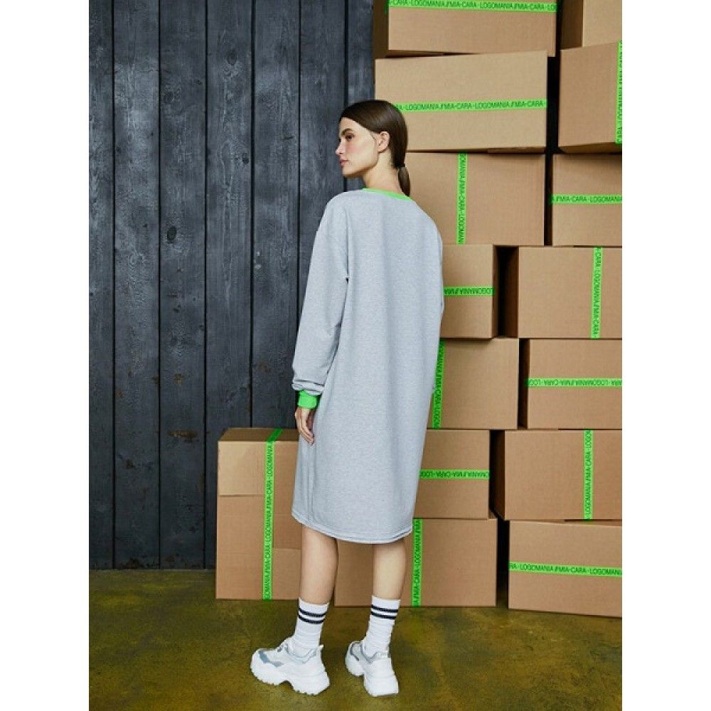 Платье жен Mia Cara AW20WJ319 Logomania серый меланж