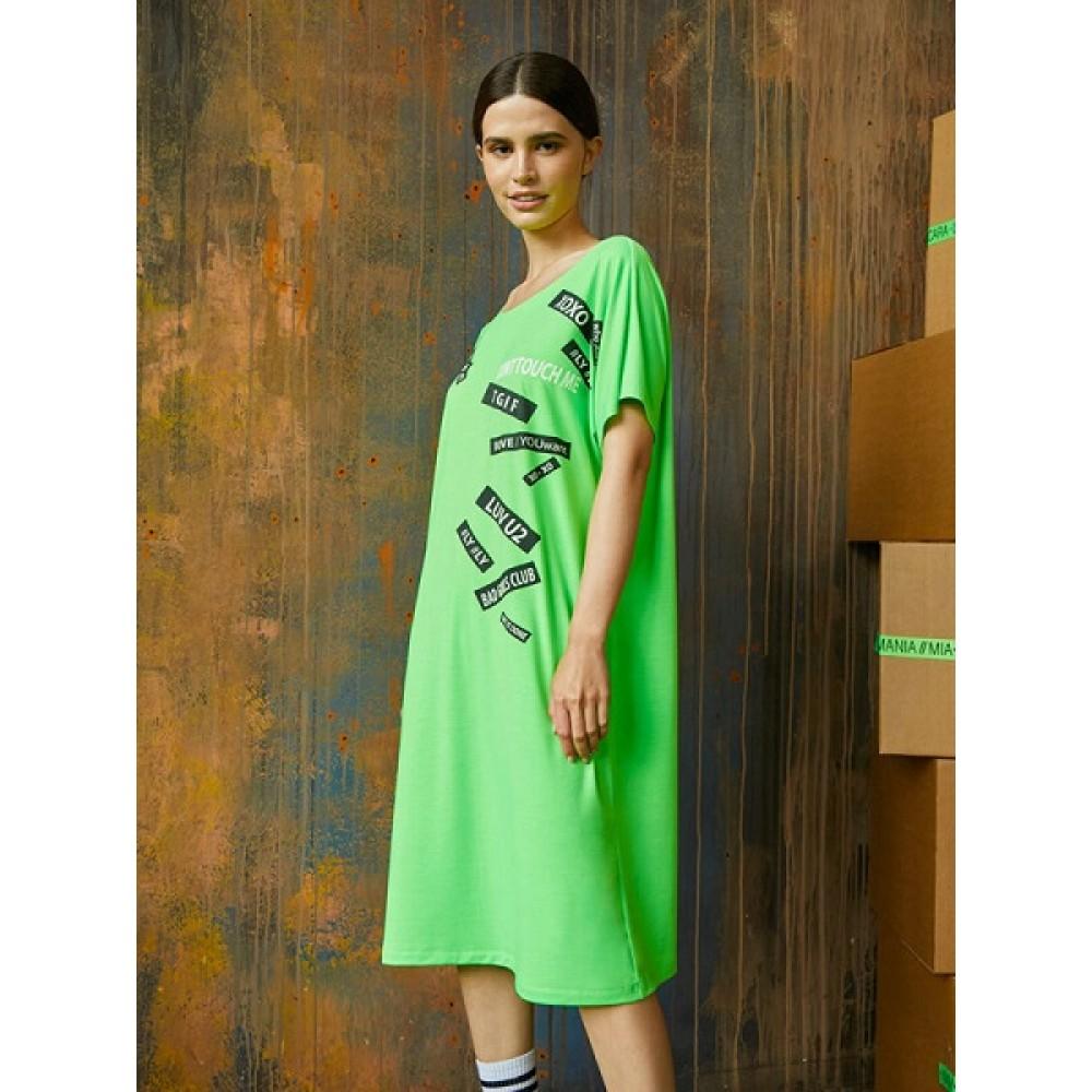 Платье жен Mia Cara AW20WJ321А Logomania салатовый
