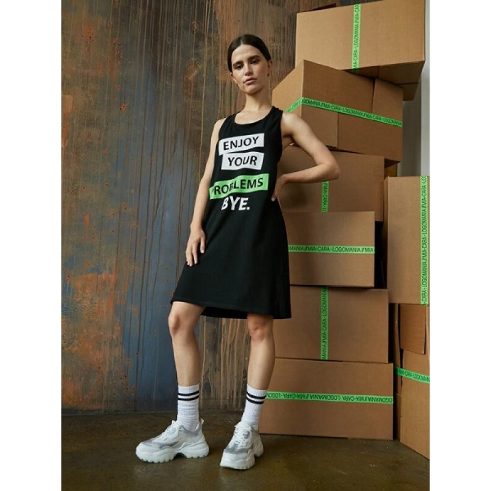 Туника (платье) жен Mia Cara AW20WJ323 Logomania черный