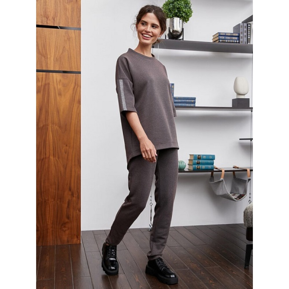 Комплект жен: джемпер, брюки Mia Cara AW20WJ3996A Beatrice какао