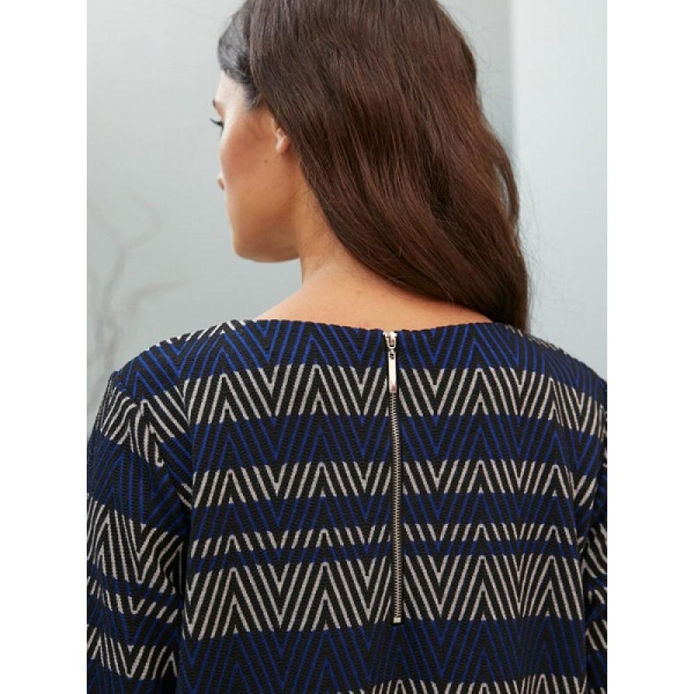 Платье жен Be Good AW20WJ103А синий/полоса