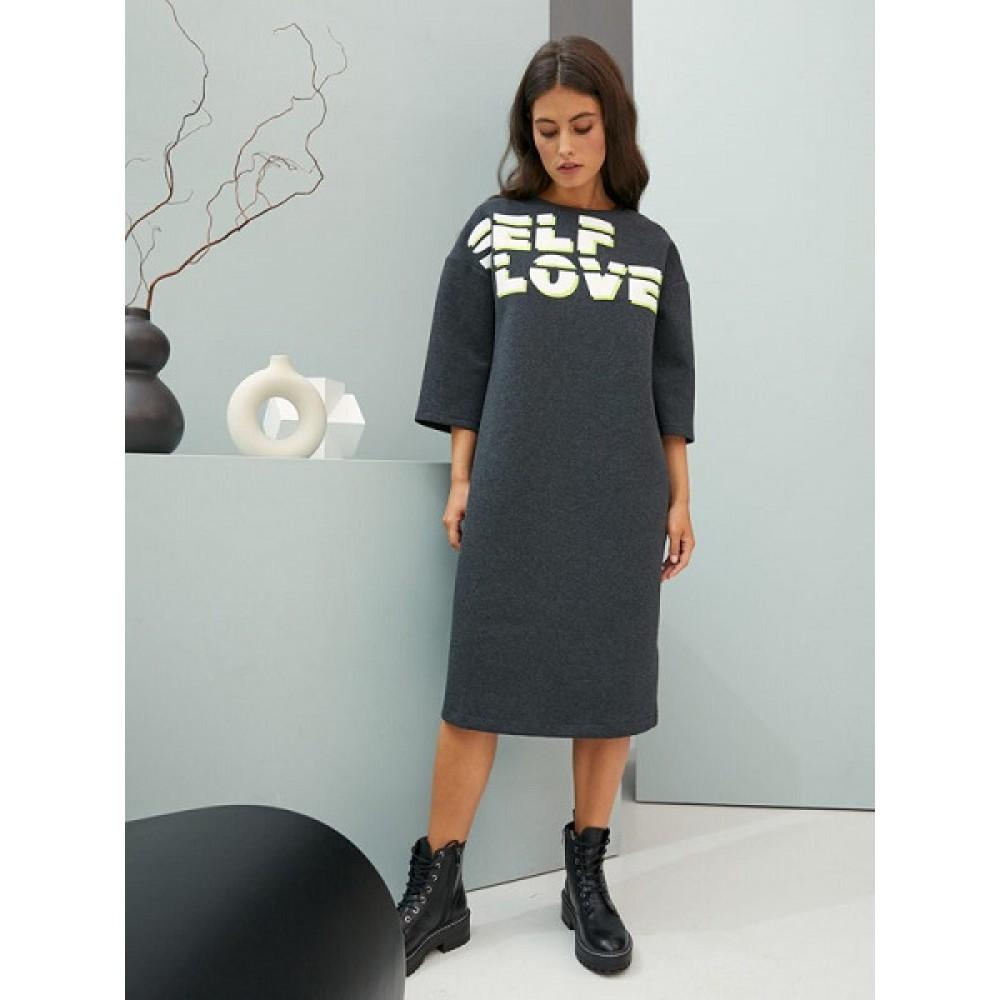 Платье жен Be Good AW20WJ195 темно-серый меланж