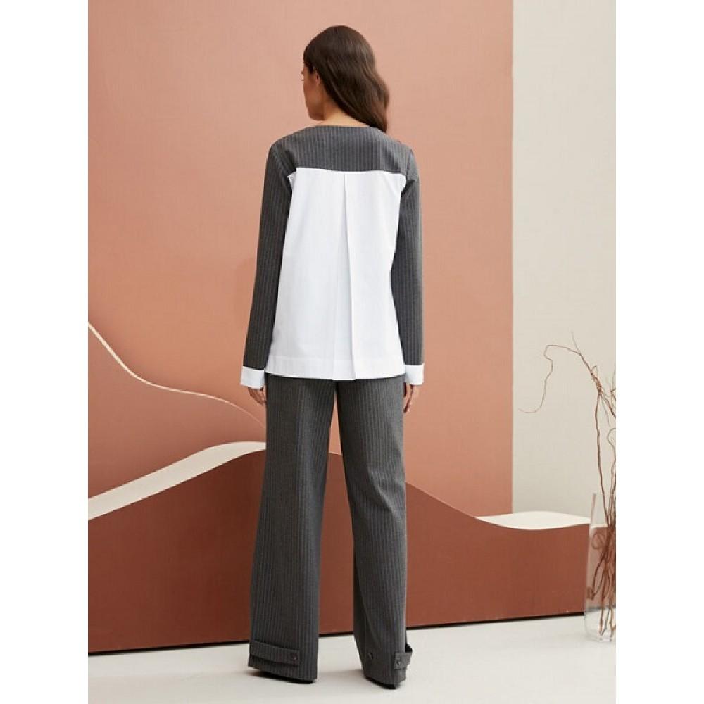 Джемпер жен Etress AW20WJ713 серый/полоса