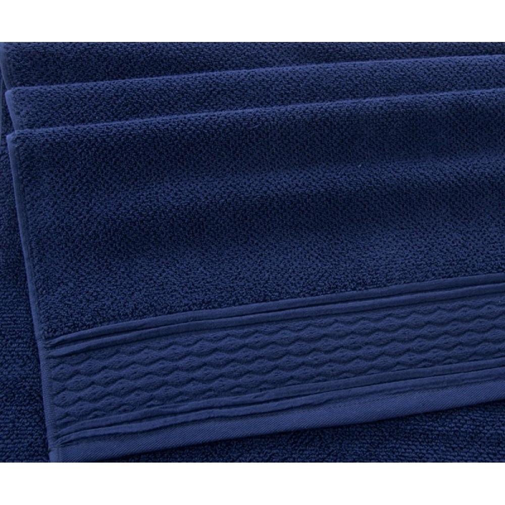 """Махровое полотенце """"Дакота""""  темно-синий"""