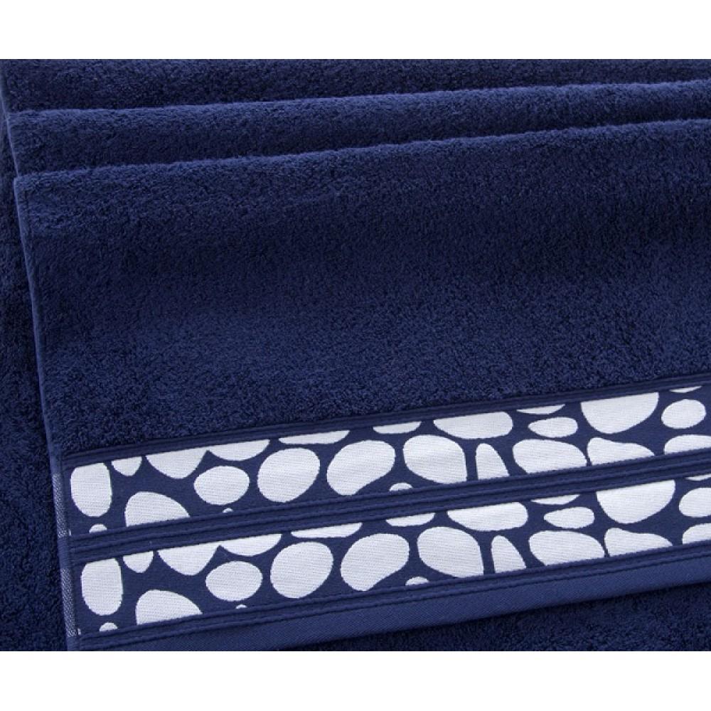 """Махровое полотенце """"Монтана"""" темно-синий"""
