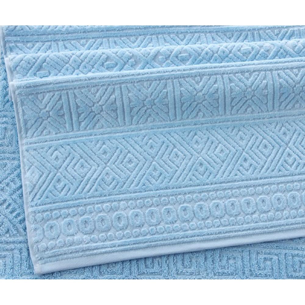 """Махровое полотенце """"Саксония"""" светло-голубой"""