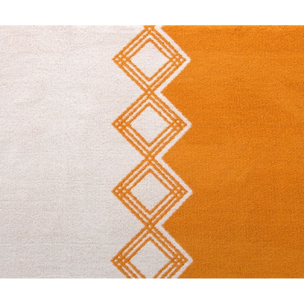 "Махровое полотенце ""Юта"" темно-оранжевый"