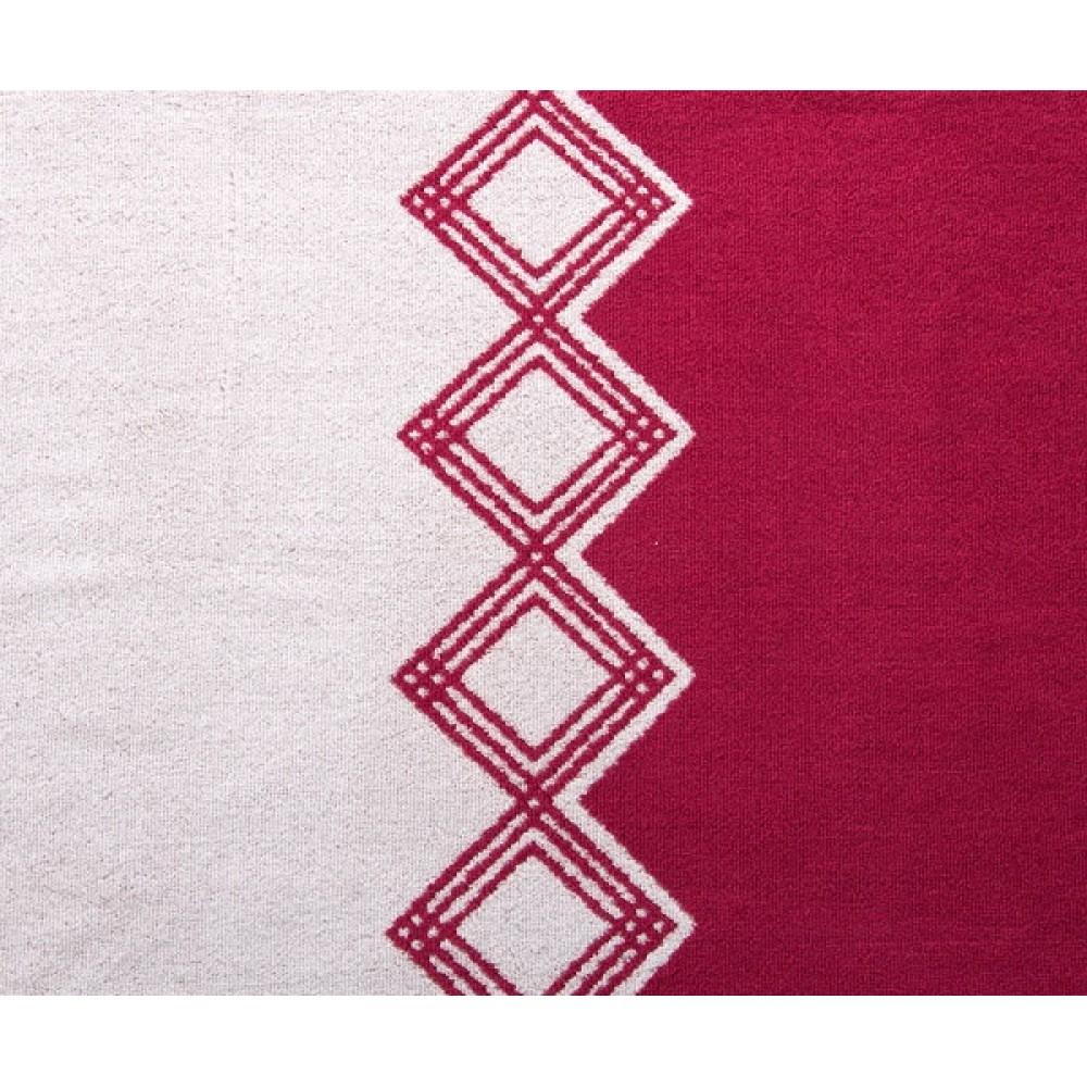 "Махровое полотенце ""Юта"" вишневый"