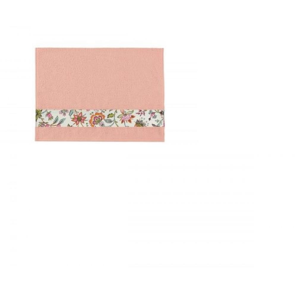 Полотенце Aquarelle Фотобордюр цветы розово-персиковый