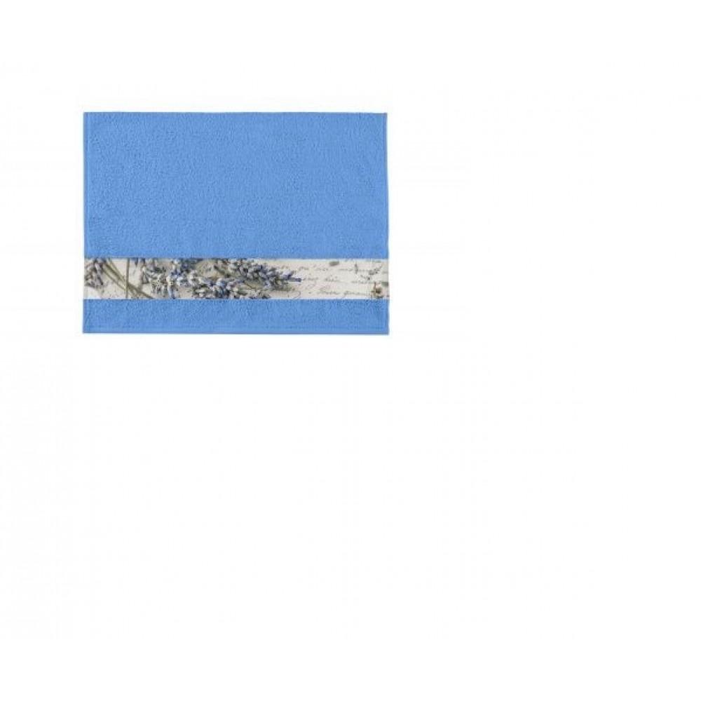 Полотенце Aquarelle Фотобордюр письмо  Спокойно-синий
