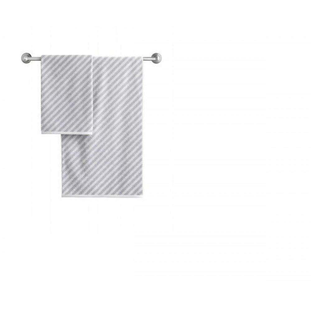 Полотенце Aquarelle Круиз диагональ Бело/серый