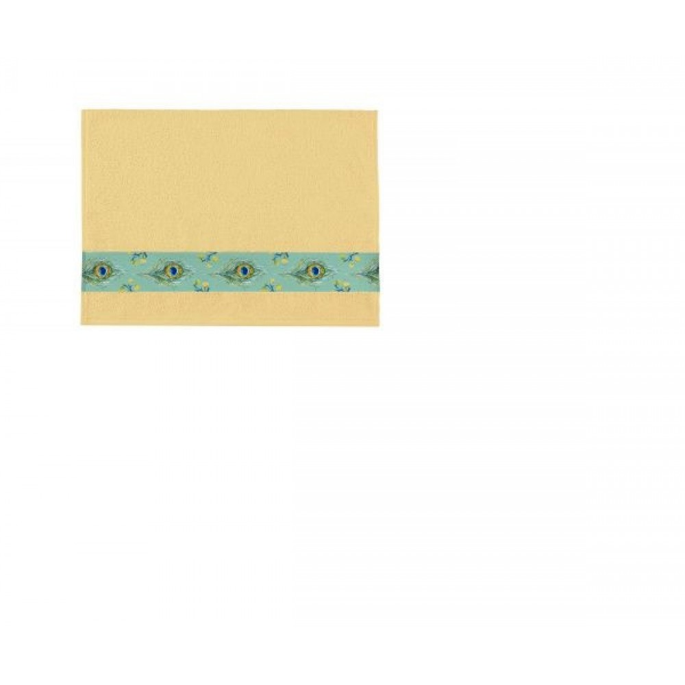 Полотенце Aquarelle Фотобордюр павлин жёлтый