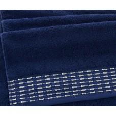 """Махровое полотенце """"Невада""""  темно-синий"""