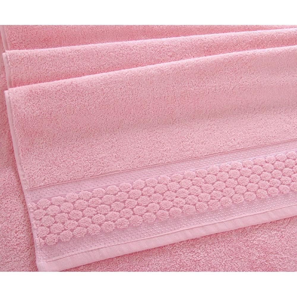 "Махровое полотенце ""Нормандия"" розовый"