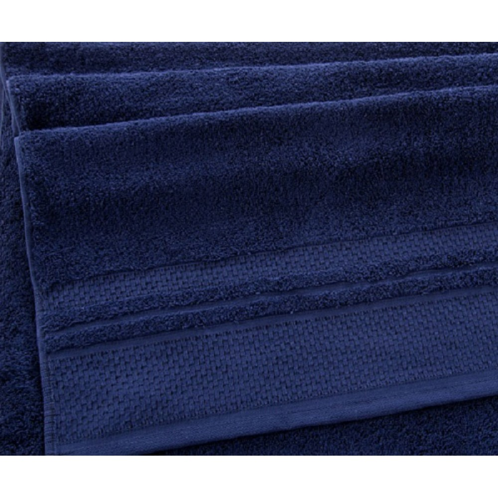 """Махровое полотенце """"Вермонт""""  темно-синий"""