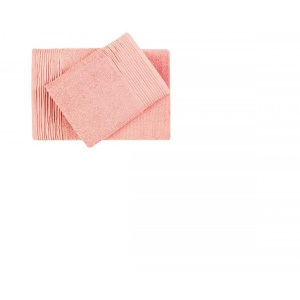 Полотенце  махровое Aquarelle  Палитра розово-персиковый