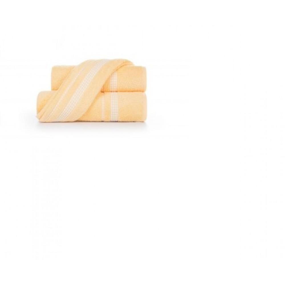 Полотенце  махровое Aquarelle Лето  светло- жёлтое