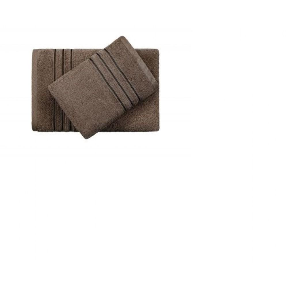 Полотенце Aquarelle Верона темно-коричневый