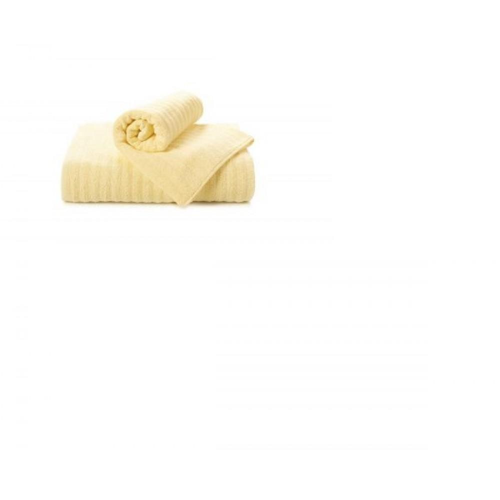 Полотенце  махровое Aquarelle Волна  светло- жёлтое
