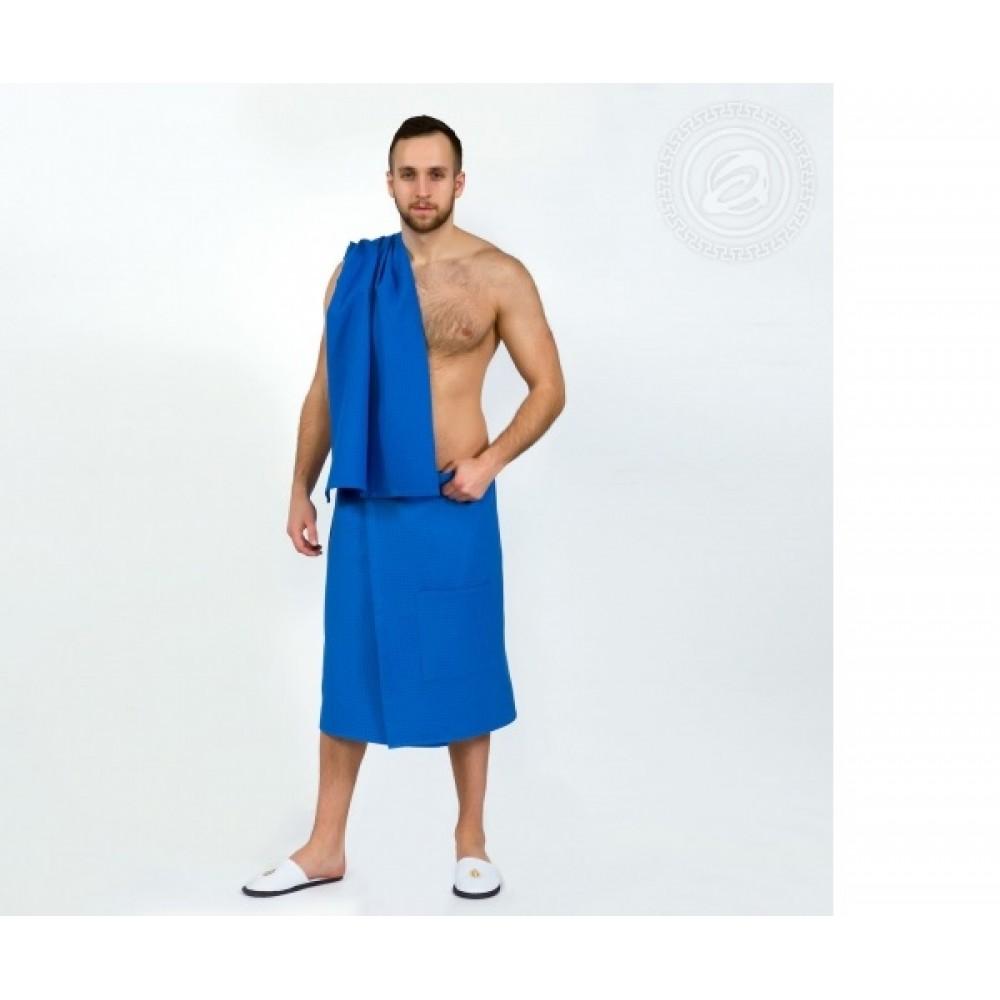 Набор для бани и сауны мужской  синий