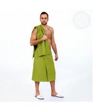 Набор для бани и сауны мужской фисташковый